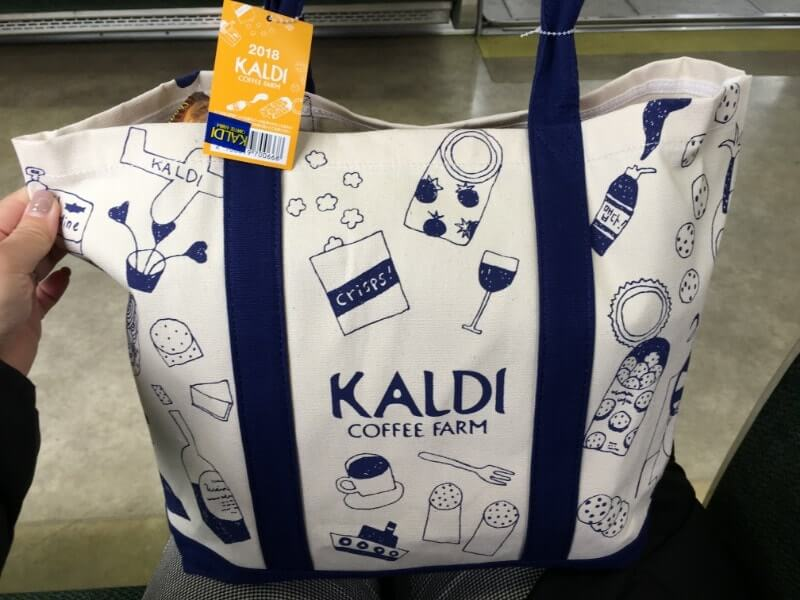 カルディの食品福袋のトートバッグ