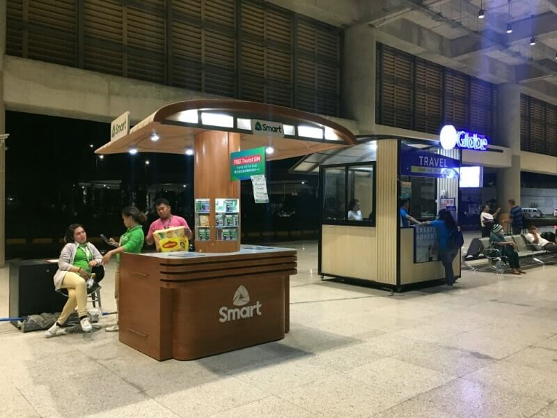 マクタン・セブ国際空港のSIM売り場