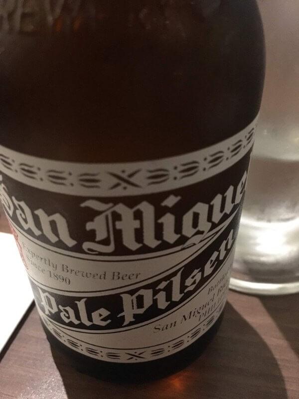 サンミゲルの瓶ビール