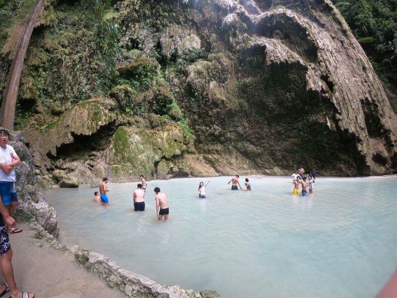 ツマログ滝の滝壺