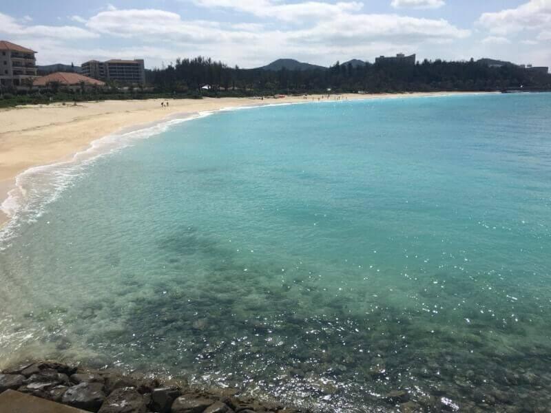 沖縄|ブセナテラスから見えるビーチ