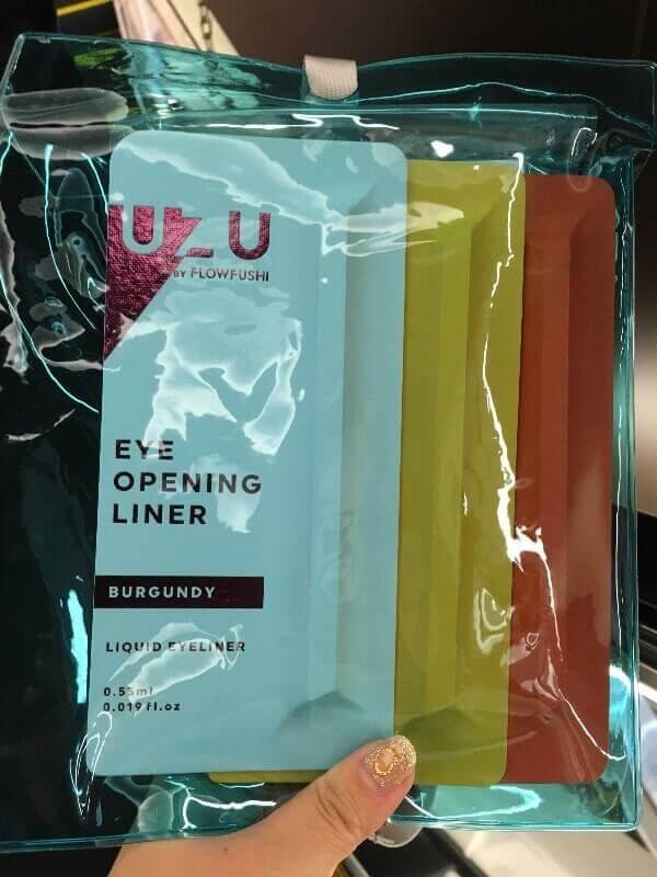 フローフシ|UZUアイライナー|ブルーのショッパー