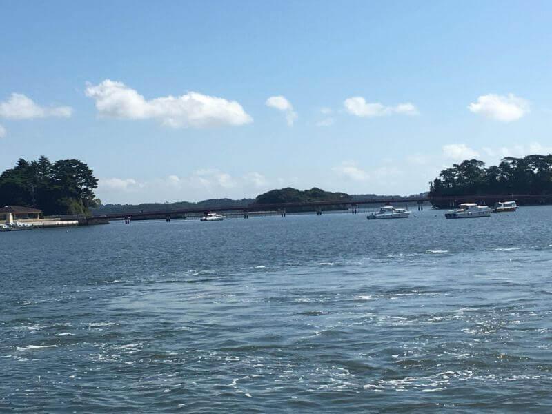 松島観光船|桟橋より